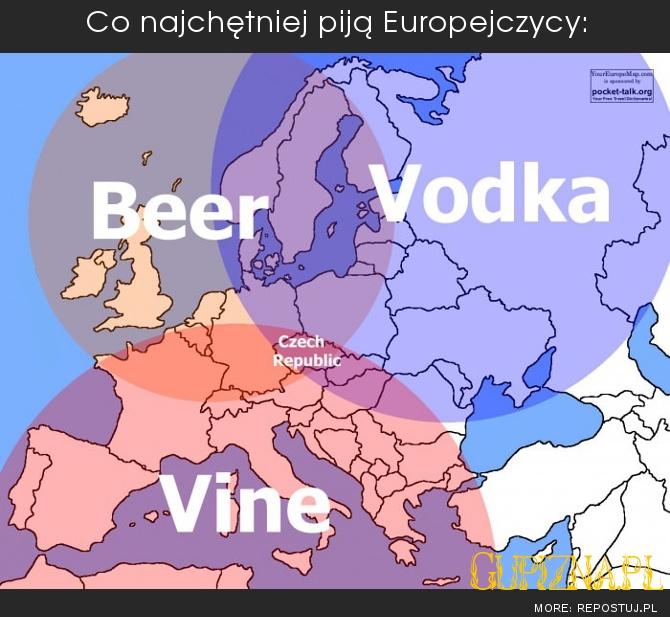 CO najchętniej piją Europejczycy