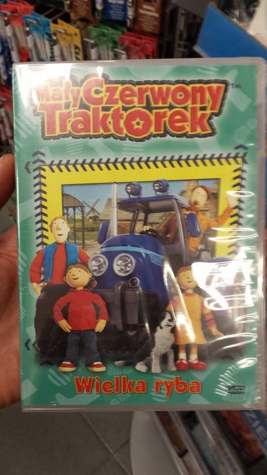 Mały czerwony traktorek