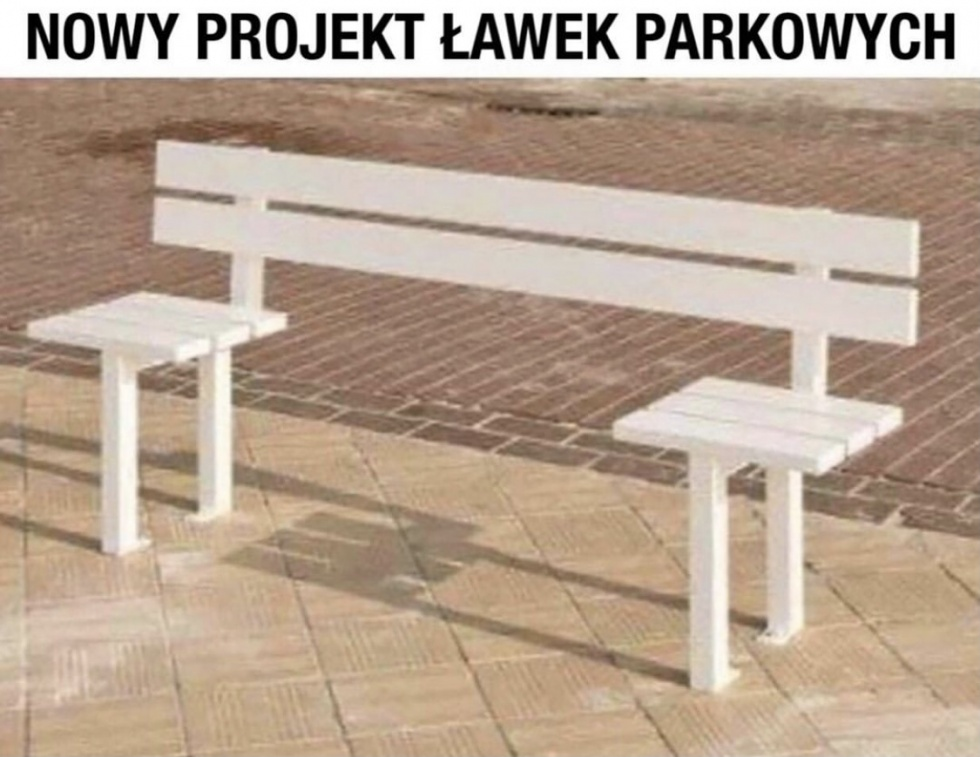 Nowy projekt ławek parkowych