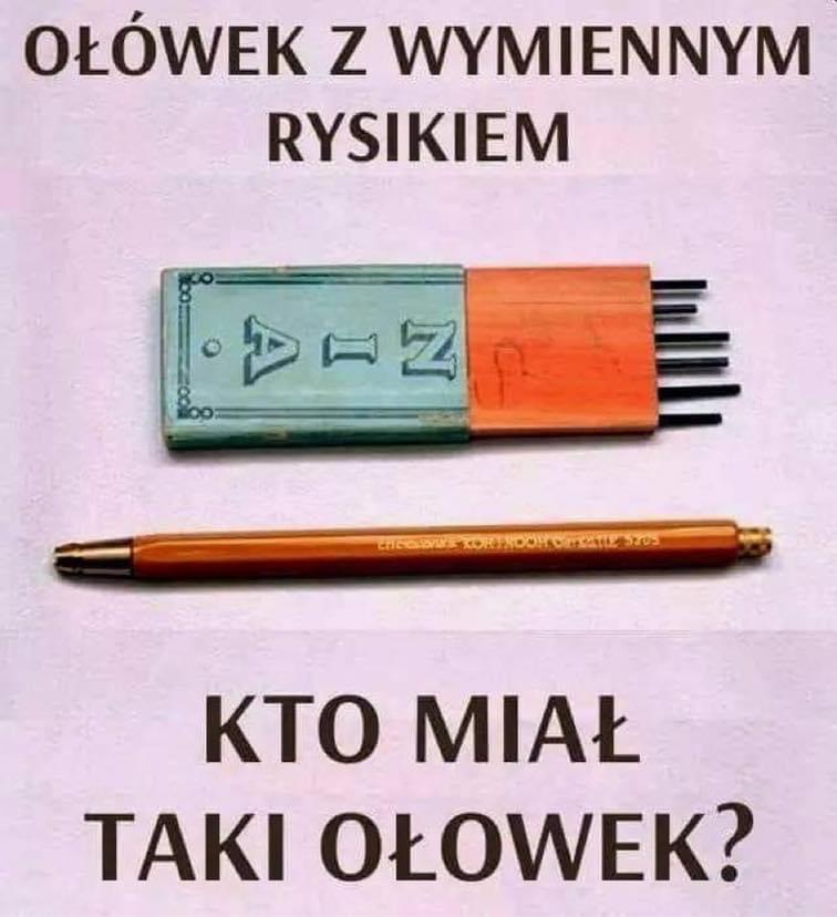 Ołówek z wymiennym rysikiem - Kto miał taki ołówek?