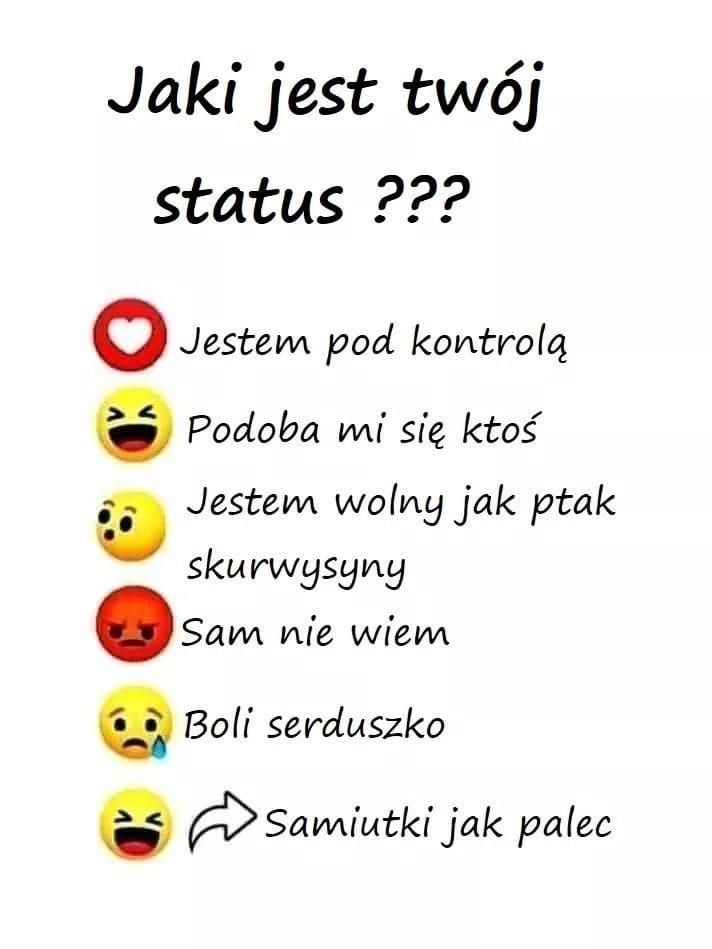 Jaki jest Twój status?