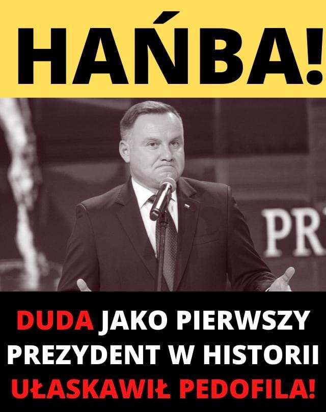 Duda jako pierwszy prezydent w historii ułaskawił pedofila