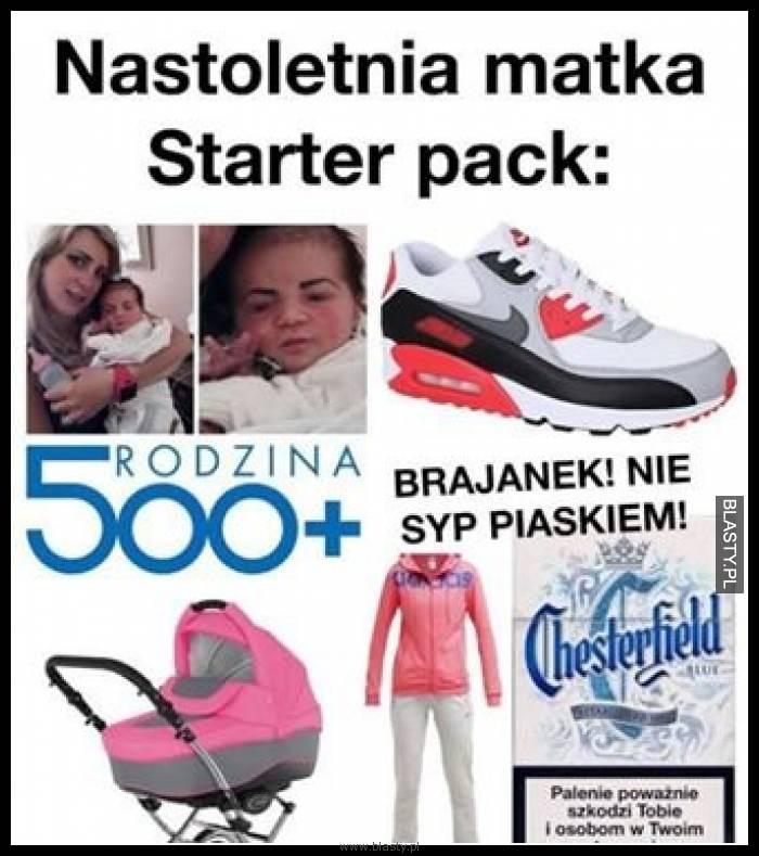 Nastoletnia matka: starter pack z 500+