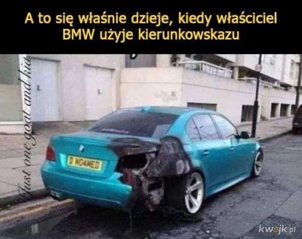 A to się właśnie dzieje, kiedy właściciel BMW użyje kierunku