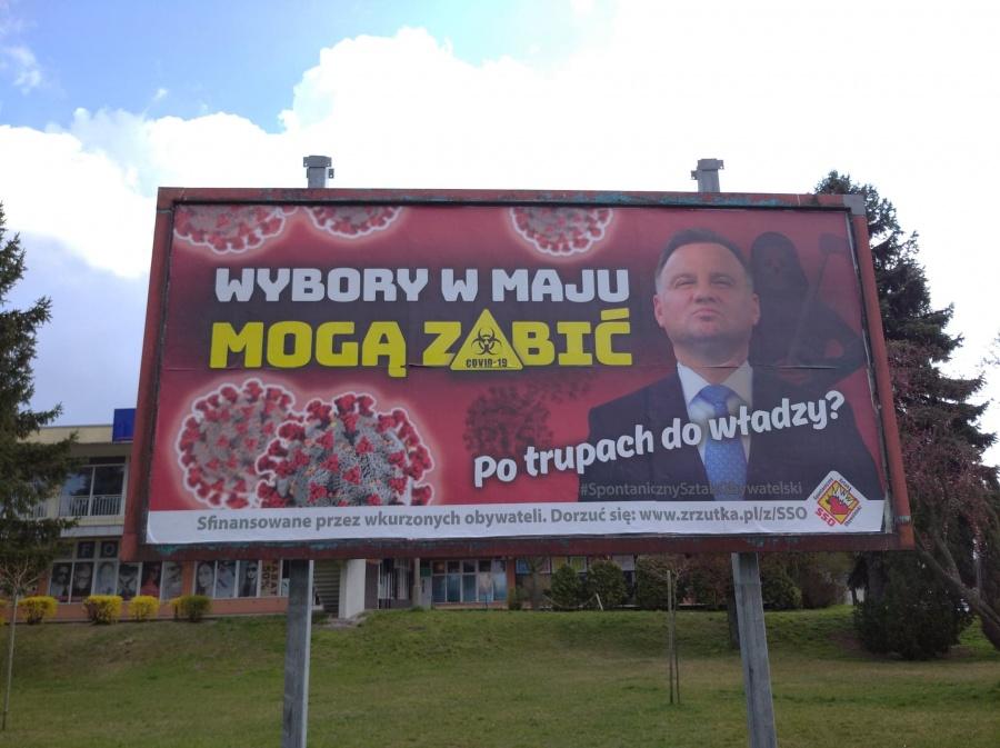 Wybory w maju mogą zabić. Po trupach do władzy?