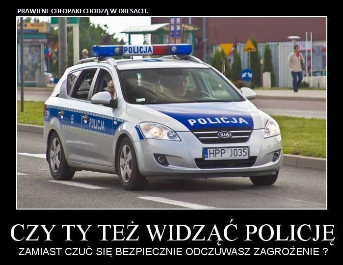 Czy Ty też widząc policję zamiast czuć się bezpiecznie odczuwasz