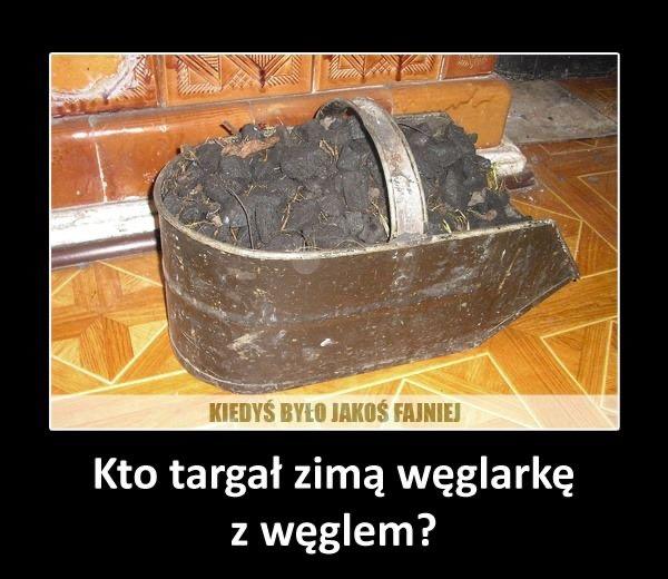Kto targał zimą węglarkę z węglem?