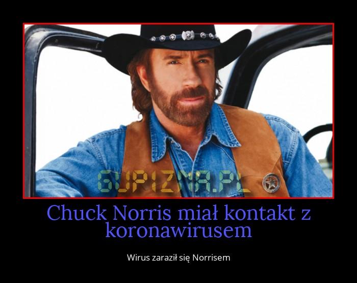 Chuck Norris miał kontakt z koronawirusem