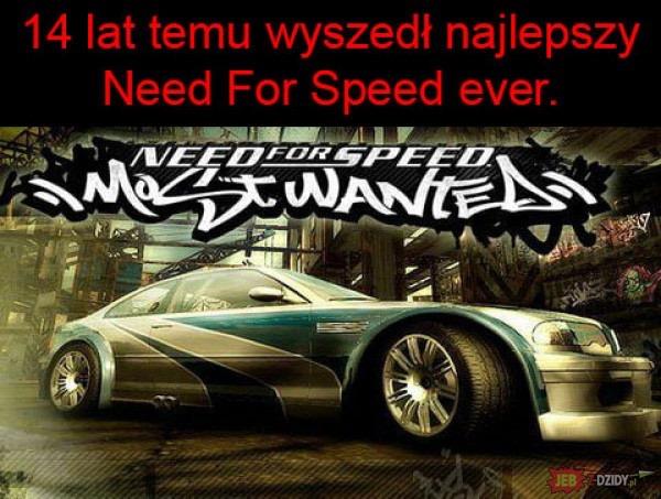 14 lat temu wyszedł najlepszy Need For Speed Most Wanted