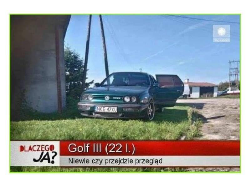 Golf III (22 l.) - Nie wie czy przejdzie przegląd