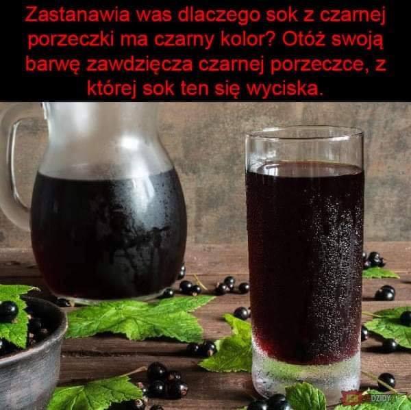 Zastanawia Was dlaczego sok z czarnej porzeczki ma czarny kolor?